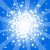 Abstract blue star background Stock Images