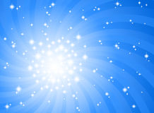 Abstract blue star background Royalty Free Stock Photography