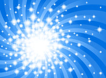 Abstract blue star background Stock Photos