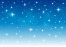 Abstract blue starry background Royalty Free Stock Photos