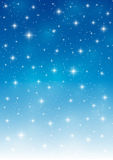Abstract blue starry background Stock Photos