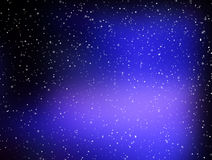 Abstract blue stars space background. Royalty Free Stock Photography