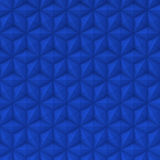 Abstract blue stars surface - Square Background. Blue square background with relief surface of hexagons stars triangles and rhombus shapes and intersected lines Stock Photography