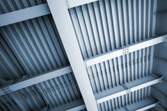 Abstract blue steel construction Royalty Free Stock Photo
