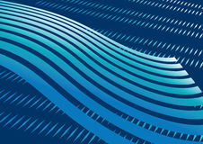 Abstract blue streaked background. Royalty Free Stock Photos