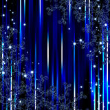 Abstract blue stripe flora frame background Royalty Free Stock Image
