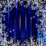 Abstract blue stripe flora frame background Stock Photography