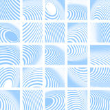 Abstract blue striped backdrops set. Vector art Stock Photography