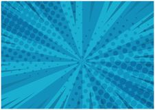 Abstract blue striped retro comic background Stock Photography