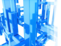 Abstract blue structure Stock Photography