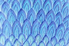Abstract blue stucco feather Stock Photography