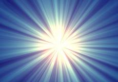 Abstract Blue Sunburst. Background or backdrop page stock illustration
