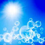Abstract blue sunny background Royalty Free Stock Photos