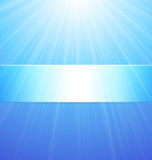 Abstract Blue Sunshine Background Stock Images