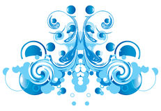 Abstract blue swirl Stock Image