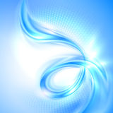 Abstract blue swirl background. With lights Royalty Free Stock Images