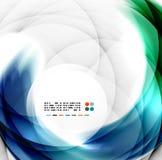 Abstract blue swirl design Stock Image