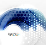 Abstract blue swirl design Royalty Free Stock Image