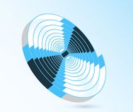 Abstract blue swirl spiral illustration Royalty Free Stock Photo
