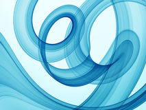 Abstract blue swirls Stock Image