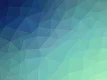 Abstract blue teal gradient polygon shaped background.  Stock Photography