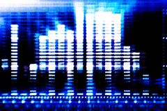 Abstract blue tech background. Created from equalizer. As hi-tech web background Royalty Free Stock Photos