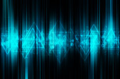 Abstract blue tech background. Abstract blue tech modern background stock illustration