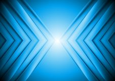 Bright blue tech background Royalty Free Stock Image