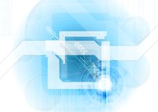 Abstract blue tech background Royalty Free Stock Photography