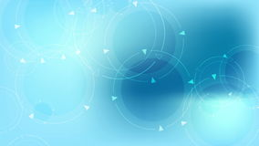 Abstract blue tech circles video animation stock video
