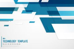 Free Abstract Blue Tech Template Design Of Future Background. Illustration Vector Eps10 Stock Photo - 161262280