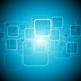 Abstract blue tech vector background Stock Photo