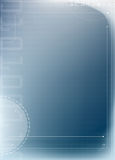 Abstract blue technology background. Abstract blue background with numbers and arrows Stock Photography