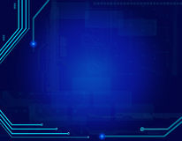 Abstract blue technology background Stock Photos