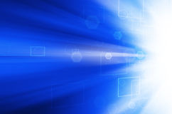 Abstract blue technology background. Abstract blue technology design background Stock Photo