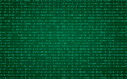 Abstract Blue Technology Background. Binary Computer Code. Programming / Coding / Hacker concept. Vector Background Illustration. Abstract Blue Technology royalty free illustration