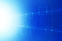 Abstract blue technology background. Abstract blue tech design background stock illustration