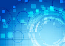 Abstract blue technology connection background stock illustration
