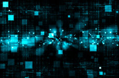 Abstract blue technology in dark background. Abstract blue and black background royalty free illustration