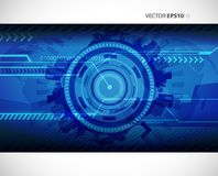 Abstract blue technology illustration Royalty Free Stock Images
