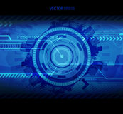 Abstract blue technology illustration with place for your text. Royalty Free Stock Photography