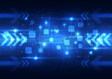 Abstract blue technology telecoms background, vector illustration. Innovation Stock Photography