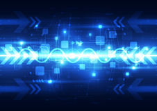 Abstract blue technology telecoms background, vector illustration Stock Photo