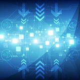 Abstract blue technology telecoms background, vector illustration. Innovation Stock Photo
