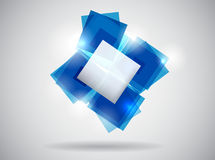 Abstract blue template Royalty Free Stock Photos