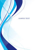 Abstract blue template. Abstract template with blue waves. Vector Stock Photography