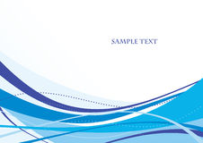 Abstract blue template Stock Image