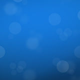 Abstract blue template background with bokeh light bubble Royalty Free Stock Photos