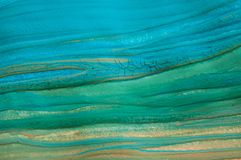 Abstract blue texture, painting detail. Abstract painting, gouache color blue and green, detail of brush painted texture royalty free stock photo
