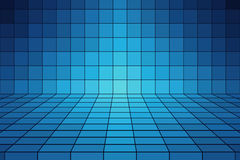 Abstract Blue Tile Stock Photo